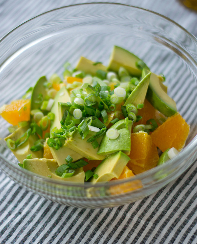 Salade avocat et orange - Camille Brunelle